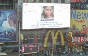 The Curvy Socialite was on a billboard in Time Square (well sort of....)!