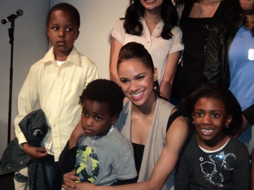 Misty Copeland (center) with fans at the DST May Week Celebration in Harlem