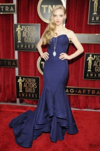 Amanda Seyfried in Zac Posen (Getty Images)