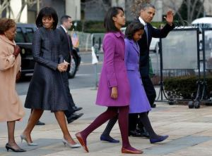 The very stylish Obama Family (via Getty Images)