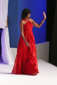 First Lady Obama in a custom red Jason Wu gown (Photo Courtesy of Getty Images)