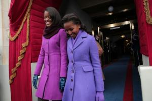 Malia and Sacha Obama (via Getty Images)