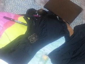 My beach bag: Becca Etc Cross Back Halter Bikini