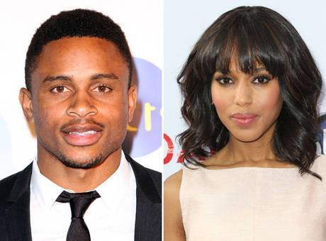 Actress Kerry Washington  & NFL player, Nnamdi Asomugha!