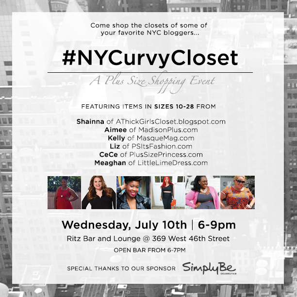 SHOPPING EVENT:  #NYCurvyCloset sponsored by Simply Be