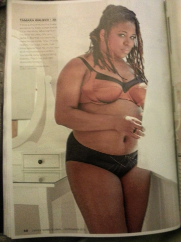 The Curvy Socialite in the September issue of LHJ