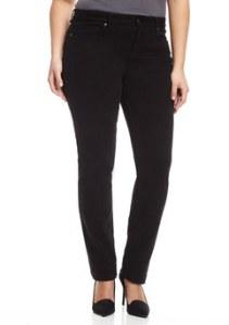 MARINA RINALDI Black Plus Mid-Rise Skinny Leg Pant $69.99