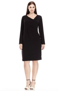 MSK Black Plus Asymmetrical Neckline Dress  $29.99