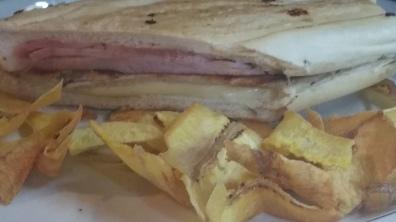 La Carreta's Famous Cuban Sandwich with Plantain Chips
